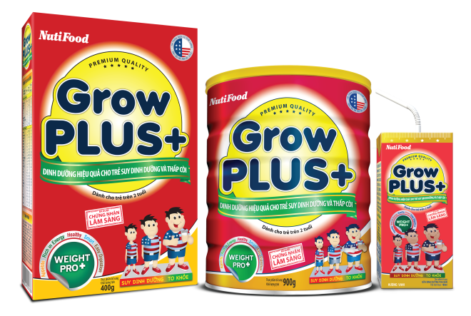 GrowPLUS+ NutiFood danh cho tre suy dinh duong thap coi hinh anh