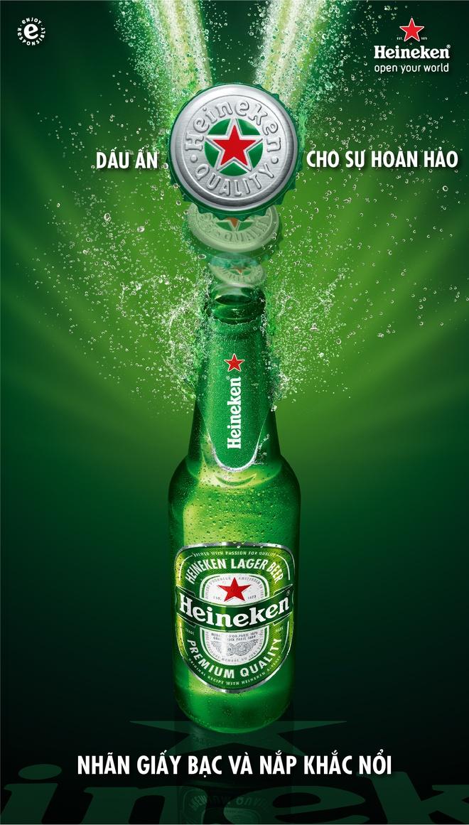 Heineken doi moi voi nhan dien mau xanh nguyen ban hinh anh 1