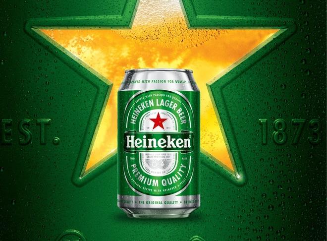 Heineken doi moi voi nhan dien mau xanh nguyen ban hinh anh