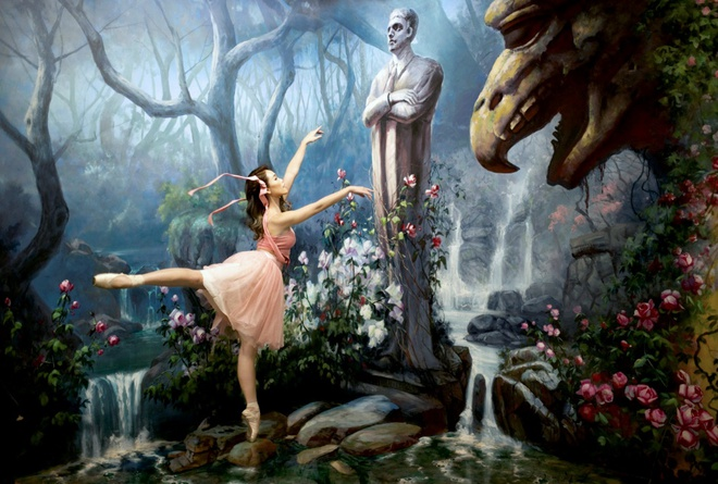 Vu cong ballet 9X khoe dang doc dao o bao tang 3D hinh anh 1