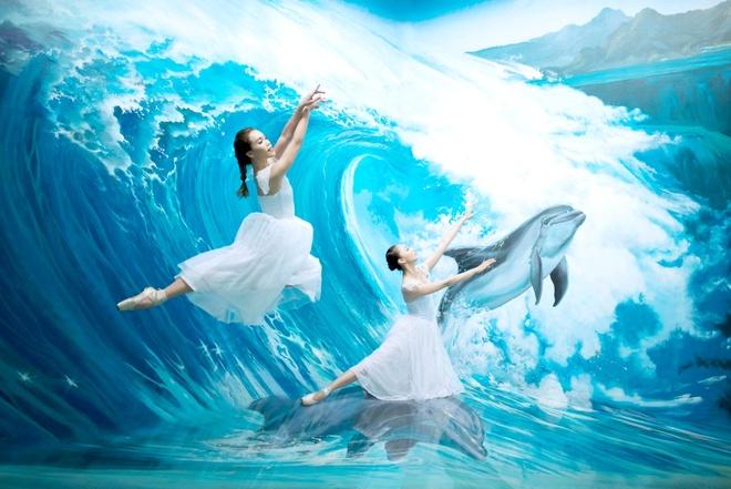 Vu cong ballet 9X khoe dang doc dao o bao tang 3D hinh anh 7