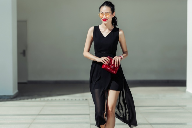 Fashionista Thanh Truc dien vay lua xuong pho hinh anh 7