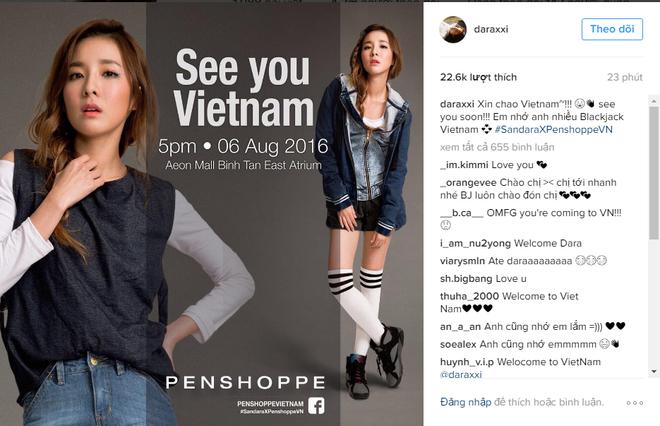 Fan hao huc cho don Sandara Park - 2NE1 den Viet Nam hinh anh 1