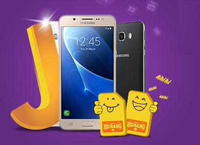 Chon Samsung Galaxy J, huong mot nam nghe goi mien phi hinh anh