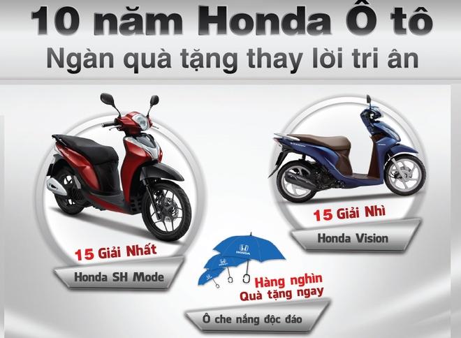 Chuong trinh ky niem 10 nam ra mat oto Honda dau tien hinh anh