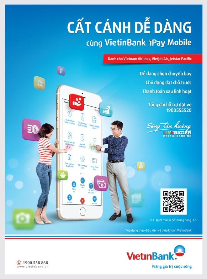 VietinBank ho tro khach hang dat ve may bay qua iPay Mobile hinh anh 2