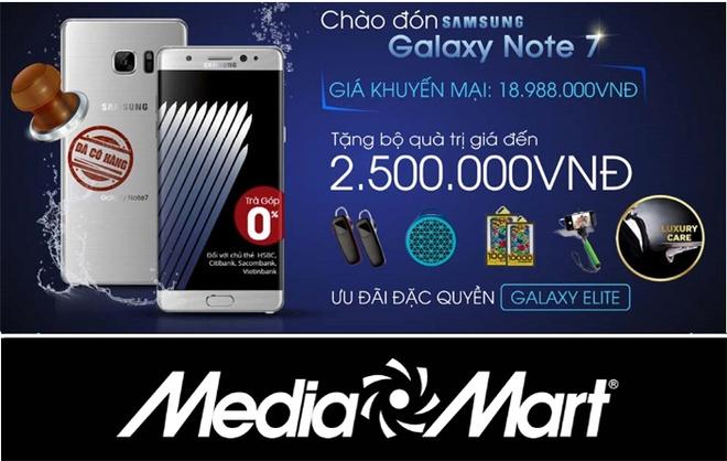 Tang qua kem uu dai khi mua Galaxy Note 7 tai MediaMart hinh anh 2