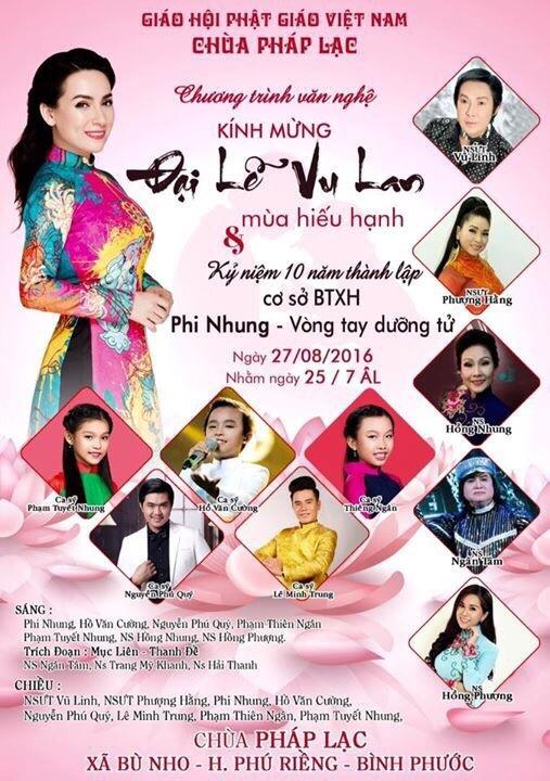 Phi Nhung tham gia le Vu Lan tai tinh Binh Phuoc hinh anh 5