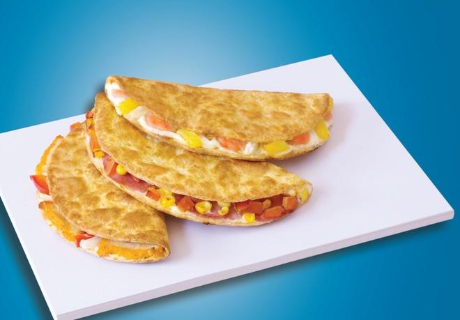 Kep zon - su ket hop moi la giua banh my, taco va pizza hinh anh