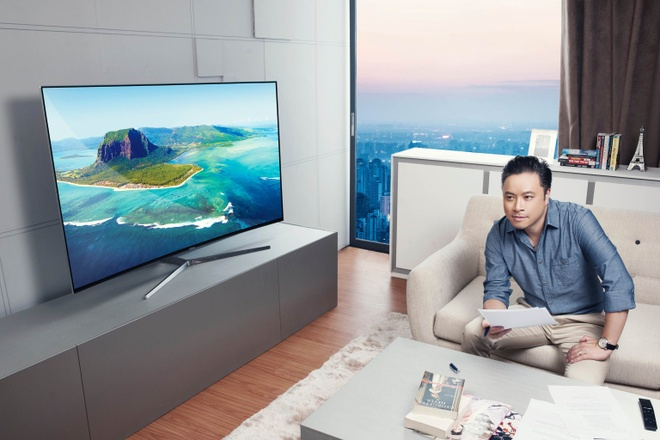 Samsung ung dung cong nghe Quantum Dot tren TV hinh anh 1