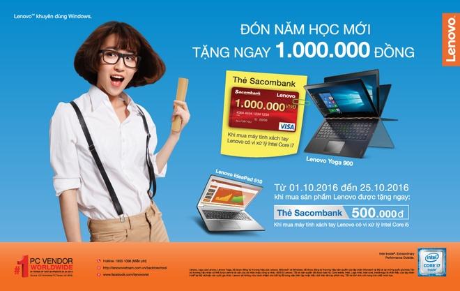 Khach hang duoc tang 1 trieu dong khi mua may tinh Lenovo hinh anh 1
