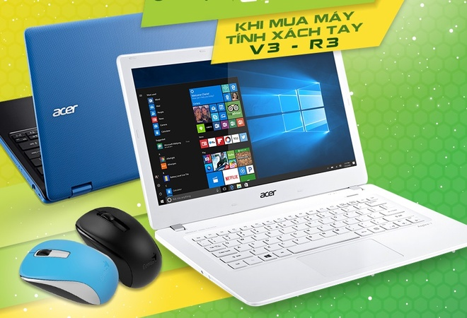 Nhan chuot khong day khi mua laptop Acer hinh anh