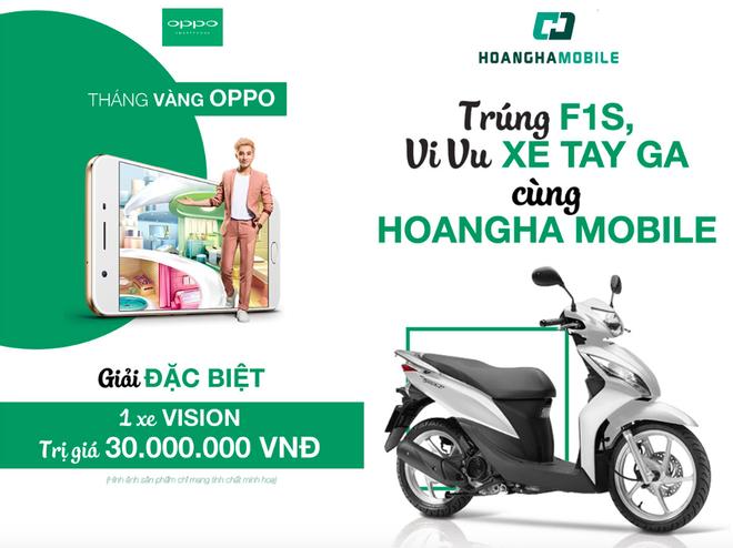 Mua OPPO trung xe may Honda Vision tu Hoang Ha Mobile hinh anh 1
