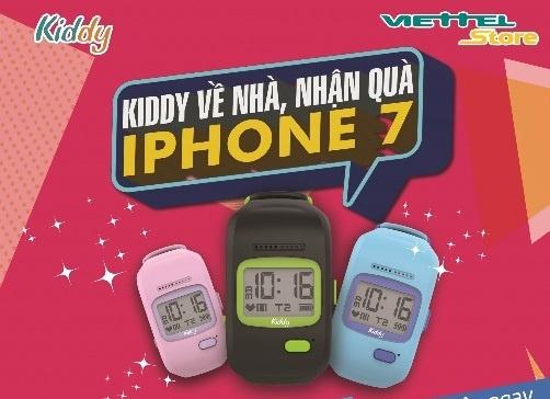 Co hoi trung iPhone 7 khi mua dong ho thong minh Kiddy hinh anh