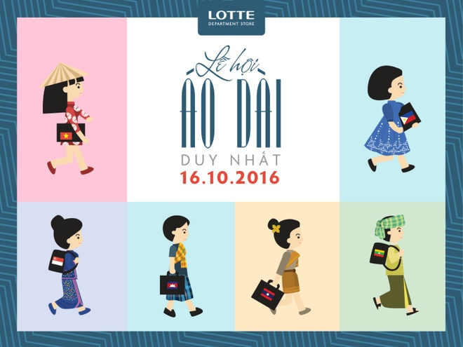 Lotte Department Store,  Le hoi ao dai anh 1