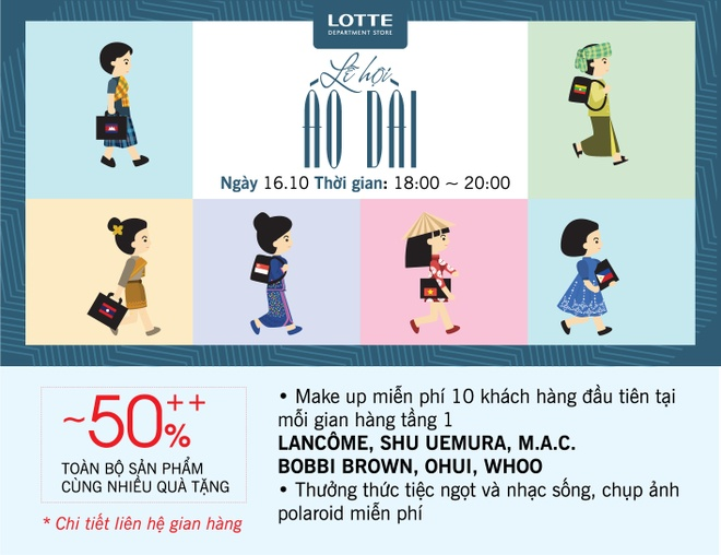 Lotte Department Store,  Le hoi ao dai anh 2