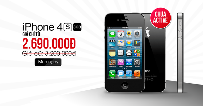 iPhone 4S 8 GB, BlackBerry Passport gia re hut khach hinh anh 4