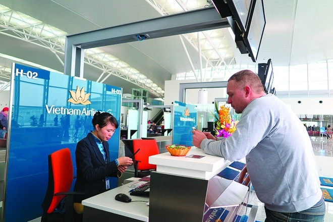 Vietnam Airlines mo check-in truc tuyen tai san bay Nhat hinh anh