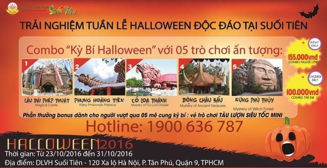 Nhung hoat dong hap dan tai Suoi Tien dip Halloween hinh anh 1