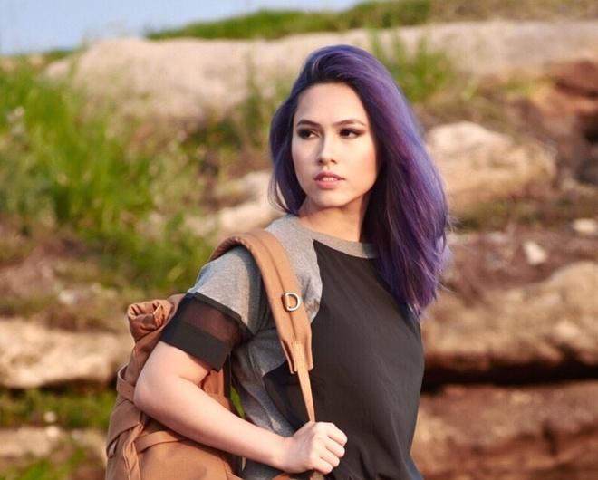 A hau Hoang My: 'Showbiz lam minh nho di' hinh anh
