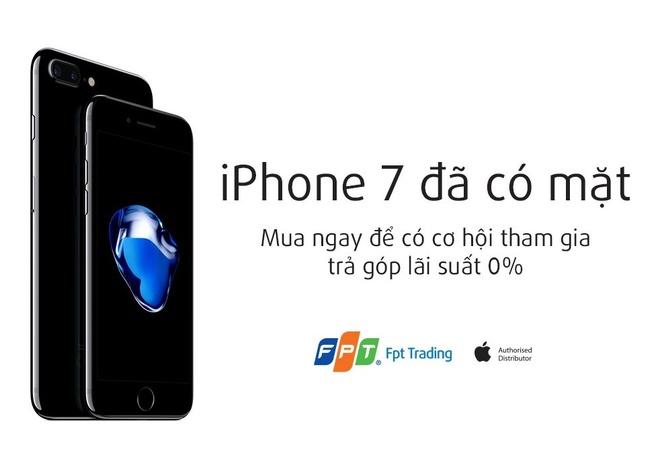 FPT Trading ban iPhone 7/7 Plus tu 11/11 tra gop lai suat 0% hinh anh