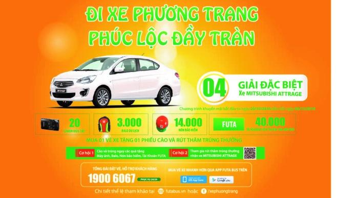 Di xe Phuong Trang, trung Mitsubishi Attrage hinh anh 1