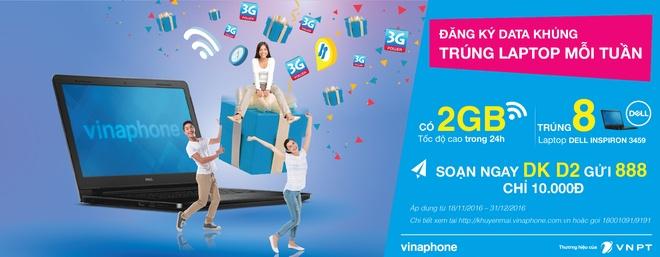 VinaPhone tang laptop cho khach hang dang ky Data hinh anh 1