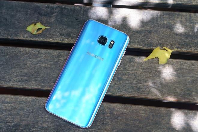 Galaxy S7 edge xanh coral gay an tuong manh voi nguoi dung hinh anh