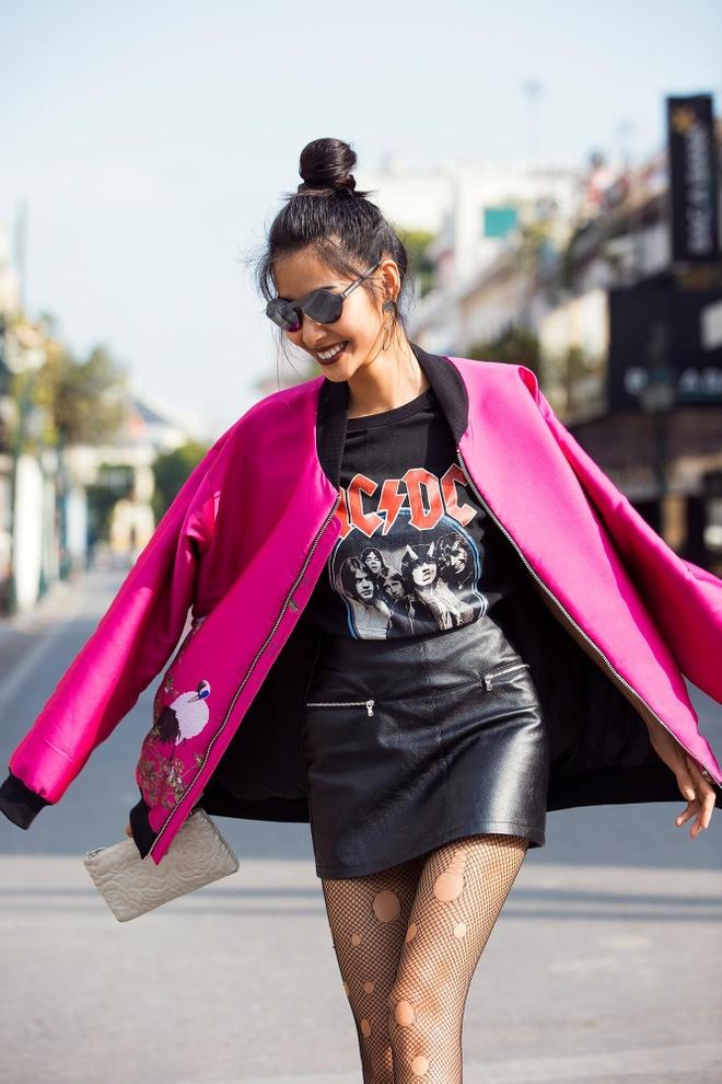 Loat fashionista Viet chuong sac hong trong street style hinh anh 2