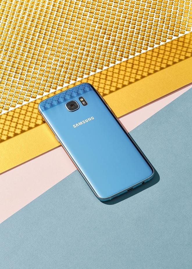 Galaxy S7 edge xanh coral anh 3