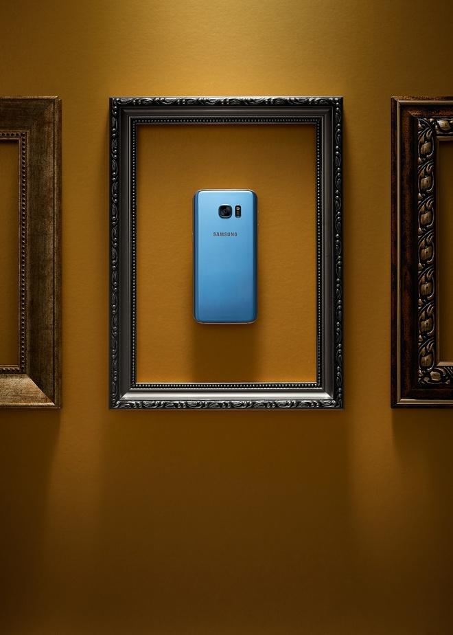 Galaxy S7 edge xanh coral anh 4