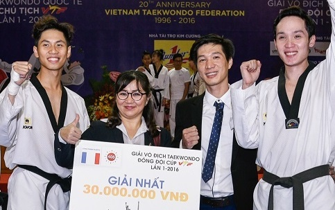 Nhua Long Thanh dong hanh ky niem 20 nam Lien doan Taekwondo hinh anh