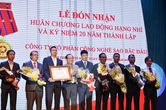 Sao Bac Dau nhan Huan chuong Lao dong anh 1