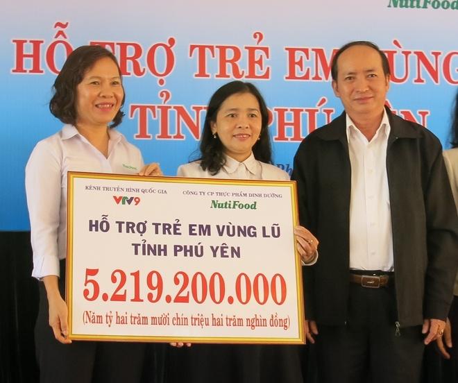 Nutifood ho tro 5,2 ty dong cho tinh Phu Yen hinh anh