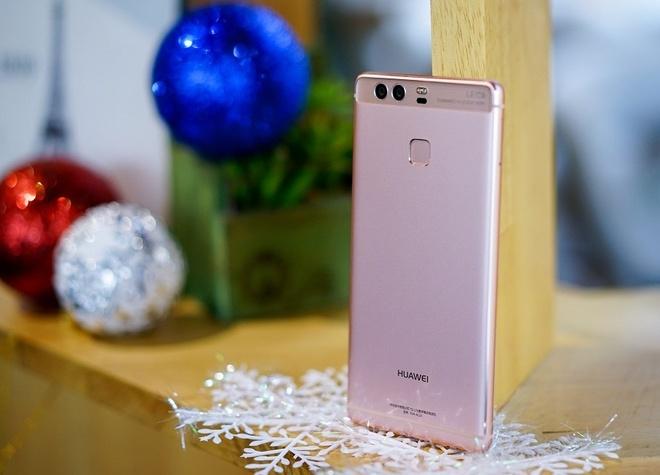 Huawei P9 vang hong: Su ket hop giua thoi trang va cong nghe hinh anh