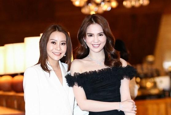 Hoa hau Hai Duong hoi ngo Ngoc Trinh tai su kien Tech Awards hinh anh