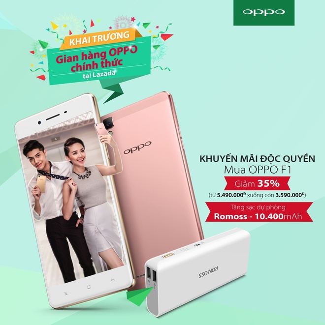 Lazada,  Oppo F1 anh 1