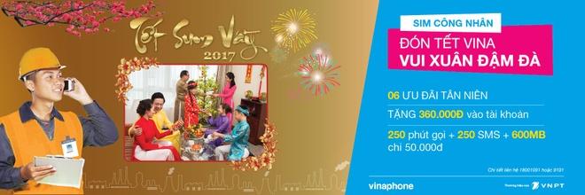 VinaPhone mang 'Tet sum vay 2017' cho nguoi lao dong ca nuoc hinh anh 1