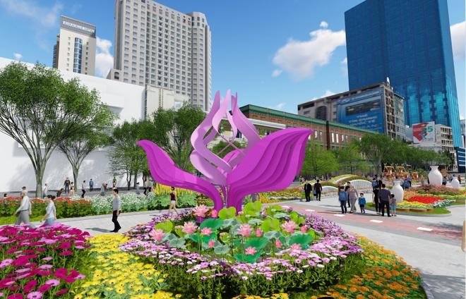 duong hoa Nguyen Hue su dung hieu ung anh sang 3D anh 1
