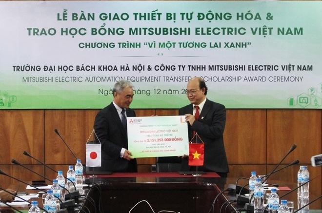 Mitsubishi Electric ho tro giao duc nganh tu dong hoa hinh anh