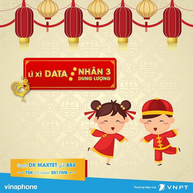 VinaPhone nhan 3 dung luong data cho khach hang dip Tet 2017 hinh anh 1