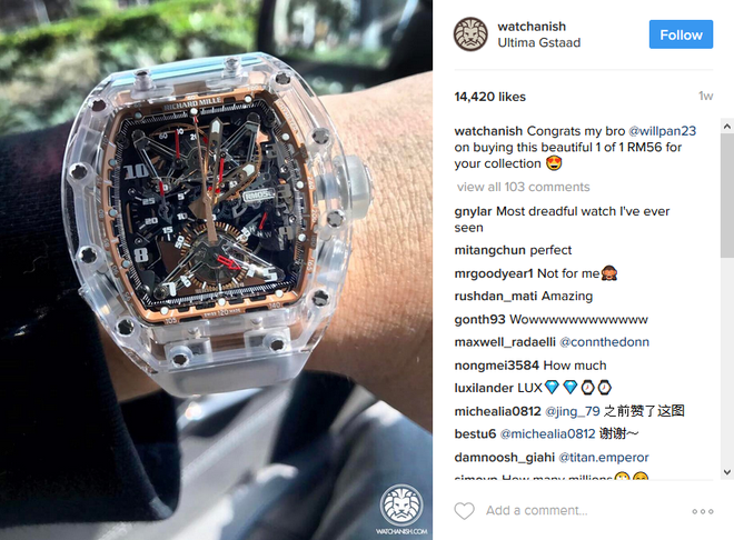 dong ho Richard Mille anh 7