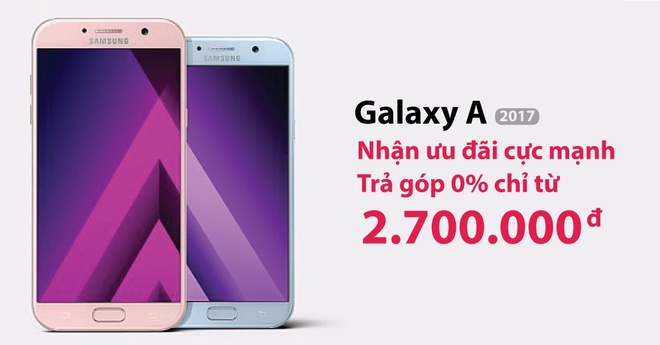 Mua Galaxy A 2017 tu 2,7 trieu dong tai Hoang Ha Mobile hinh anh