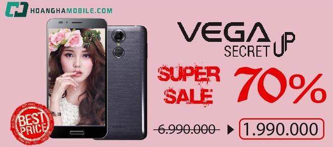 Smartphone Han Quoc Sky Vega Secret Up giam con 1,99 trieu dong hinh anh 1