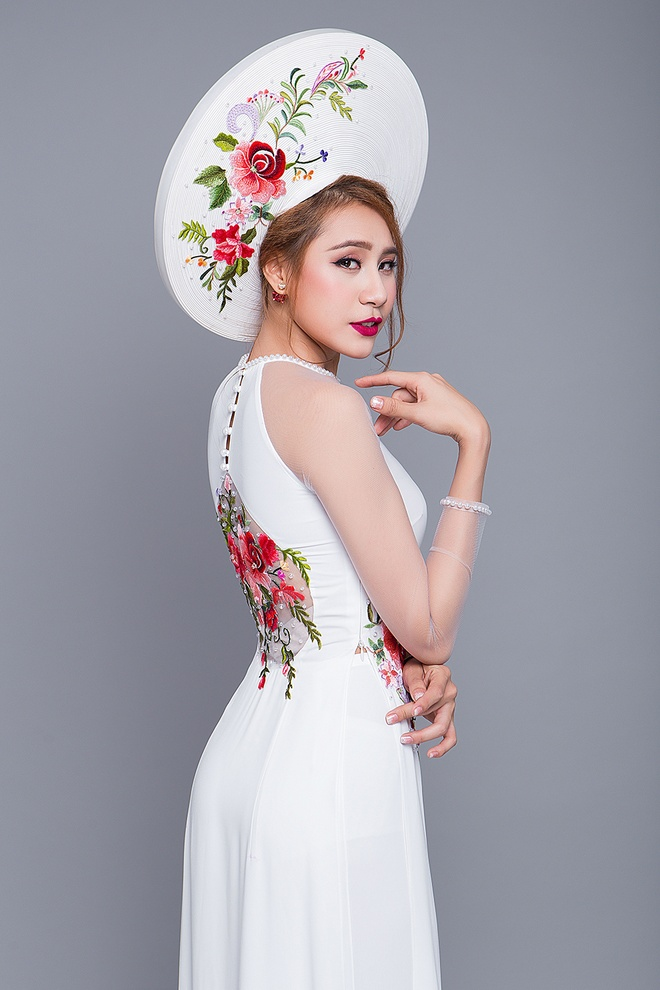 Minh Luan tinh tu voi Ho Bich Tram trong trang phuc ao dai cuoi hinh anh 10
