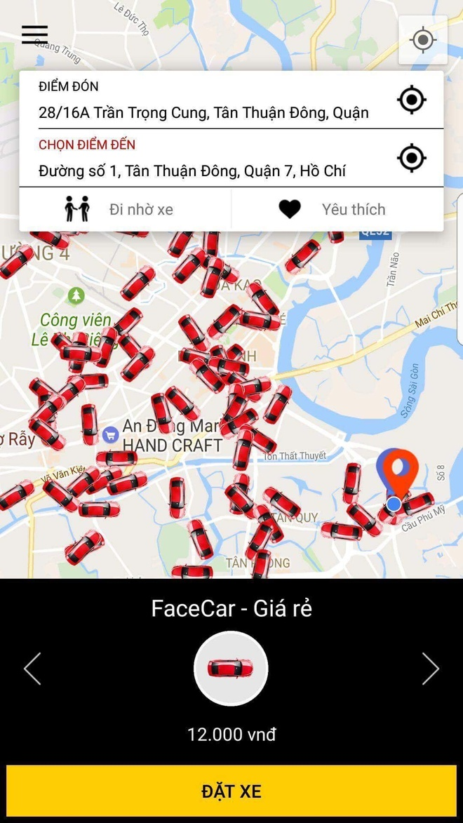 Ung dung goi xe FaceCar thay doi nha dau tu hinh anh 1
