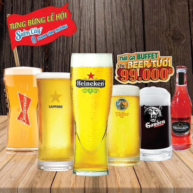 Thuong thuc buffet bia tuoi 99.000 dong tai Suon Cay Phan Van Truong hinh anh 2