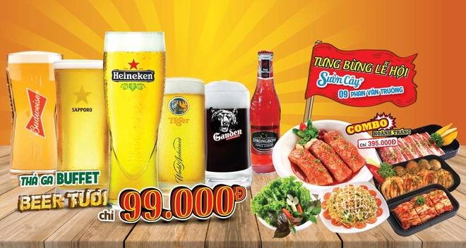 Thuong thuc buffet bia tuoi 99.000 dong tai Suon Cay Phan Van Truong hinh anh 6