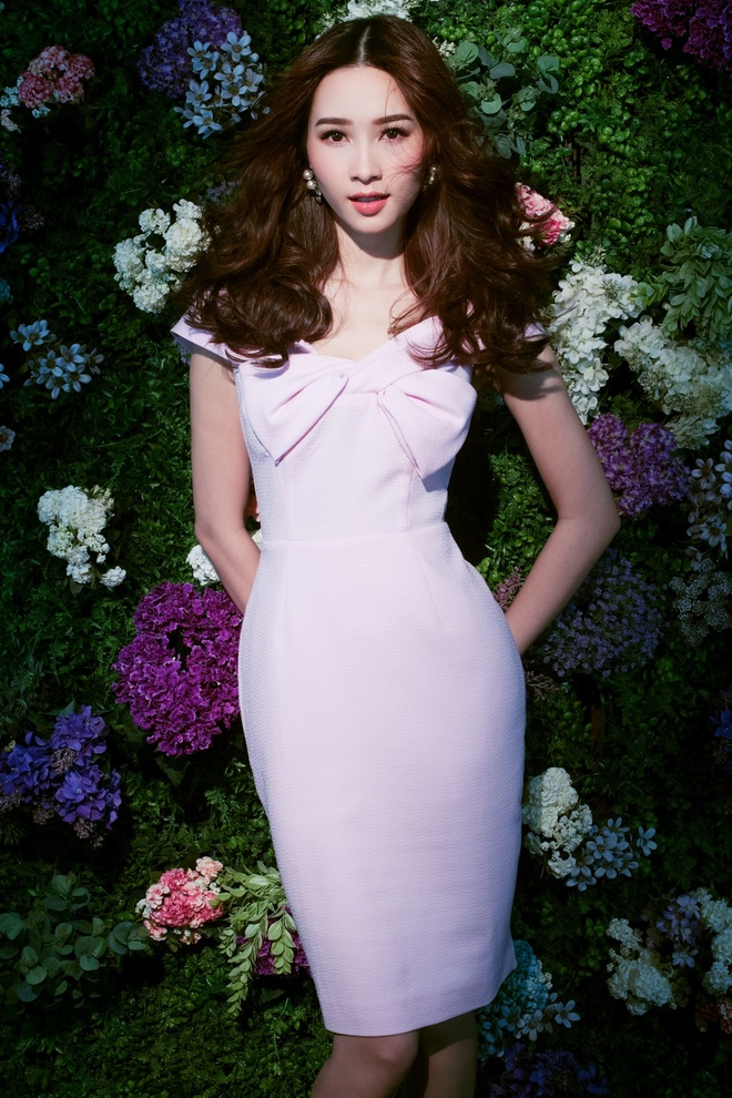 HH Dang Thu Thao tiep tuc lam dai su Elise 2017 trong BST da sac hoa hinh anh 2