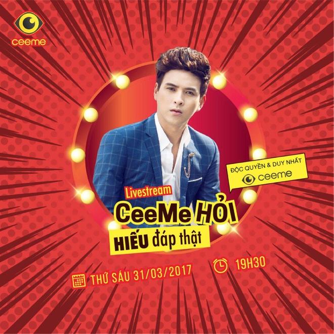 Ho Quang Hieu se noi ve chuyen tinh yeu voi Bao Anh tren CeeMe hinh anh 1